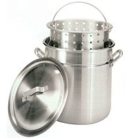 Barbour Bayou Classic Fryer/Steamer Stock Pot With Basket and Lid, 60 qt Capacity, 17-5/8 in Dia, Aluminum