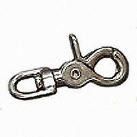 Baron 5013-1/2 Round Eye Swivel Trigger Snap, 3/8 in Opening, Die Cast Zinc, Nickel Plated