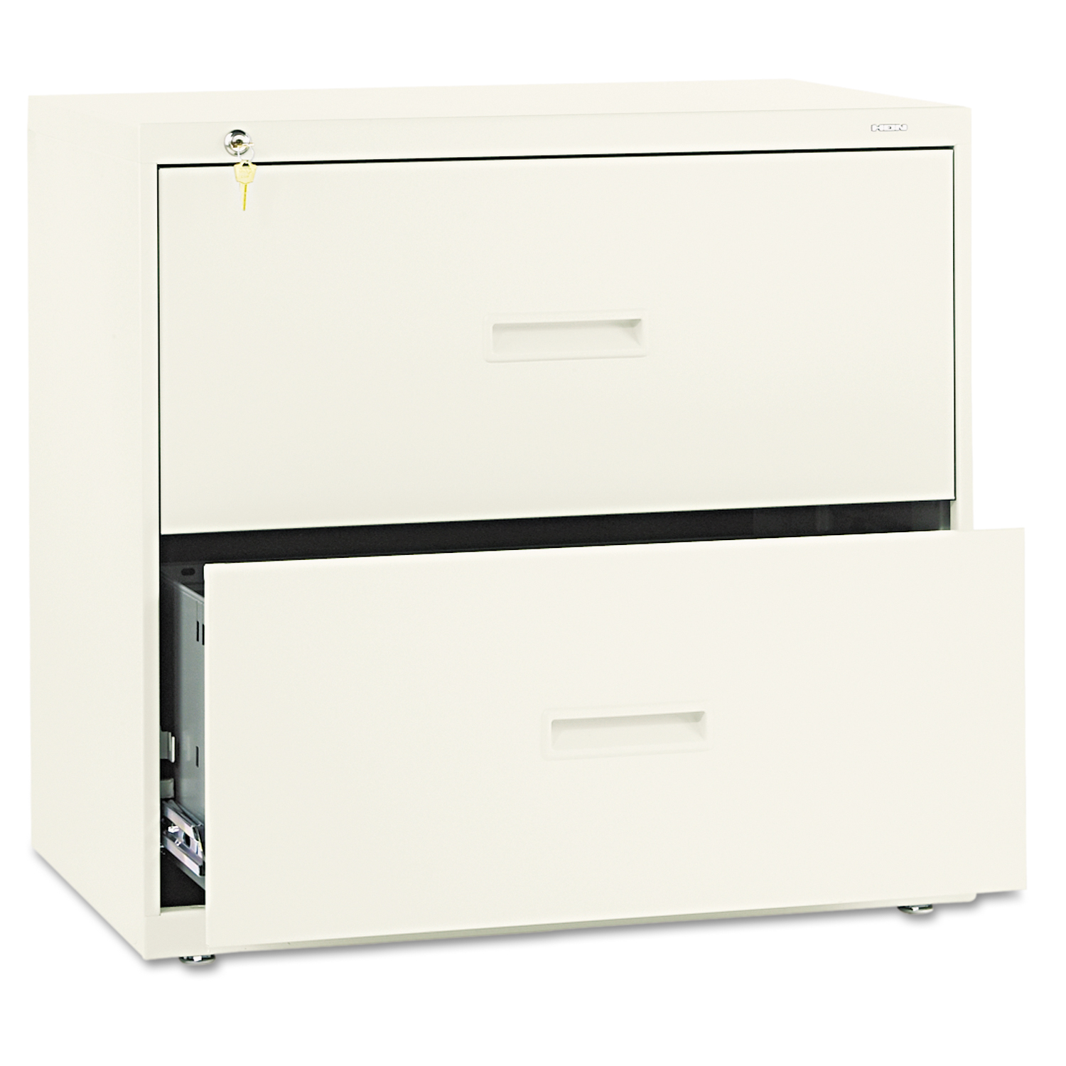 400 Series Two-Drawer Lateral File, 30w x 19-1/4d x 28-3/8h, Putty