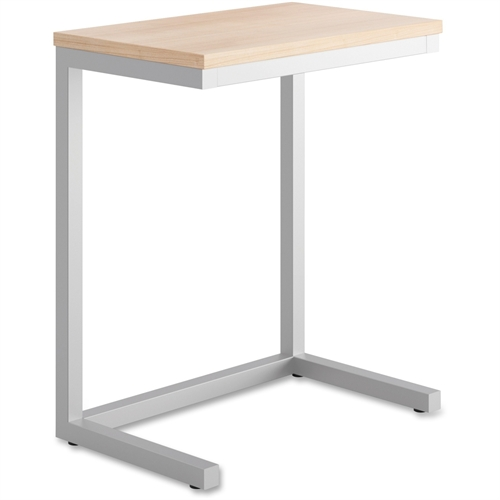 Occasional Cantilever Table, 24w x 15d x 20 3/4h, Wheat/Silver