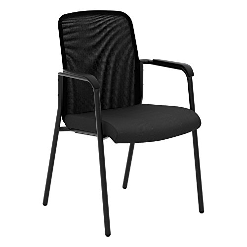 VL518 Mesh Back Multi-Purpose Chair with Arms, Black