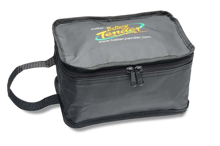 Battery Tender Black Medium Zipper Pouch