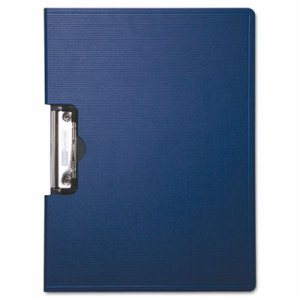 "Portfolio Clipboard With Low-Profile Clip, 1/2"" Capacity, 11 x 8 1/2, Blue"