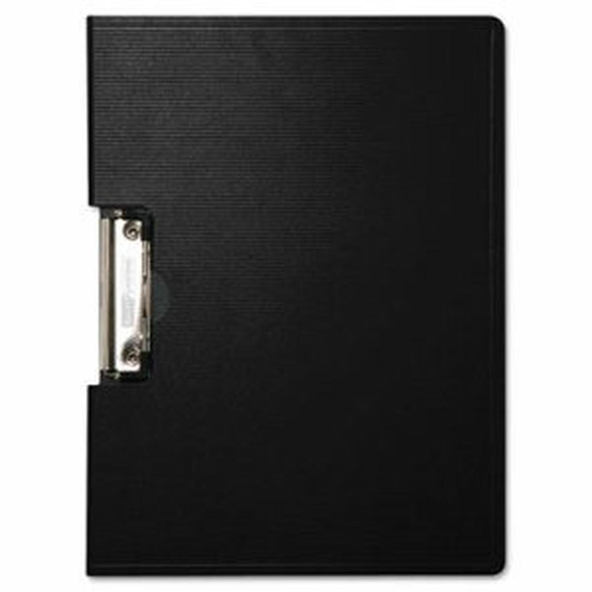 "Portfolio Clipboard With Low-Profile Clip, 1/2"" Capacity, 11 x 8 1/2, Black"