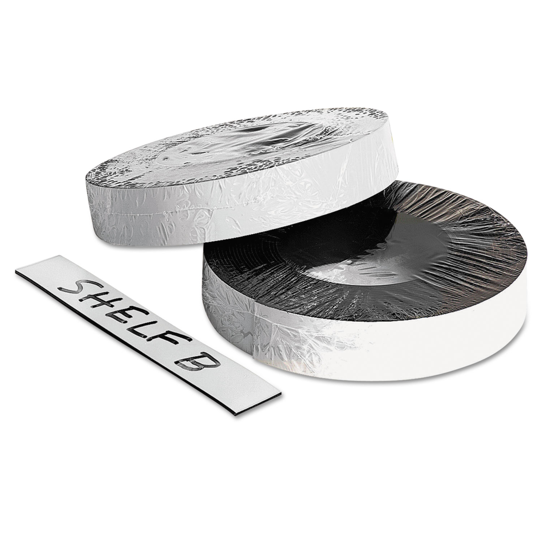 "Dry Erase Magnetic Label Tape, White,1"" x 50 ft."