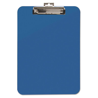 "Unbreakable Recycled Clipboard, 1/4"" Capacity, 8 1/2 x 11, Blue"
