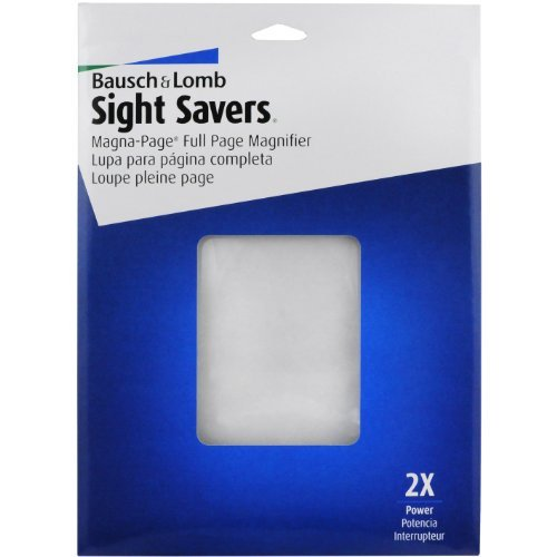 "2X Magna-Page Full-Page Magnifier w/Molded Fresnel Lens, 8 1/4"" x 10 3/4"""