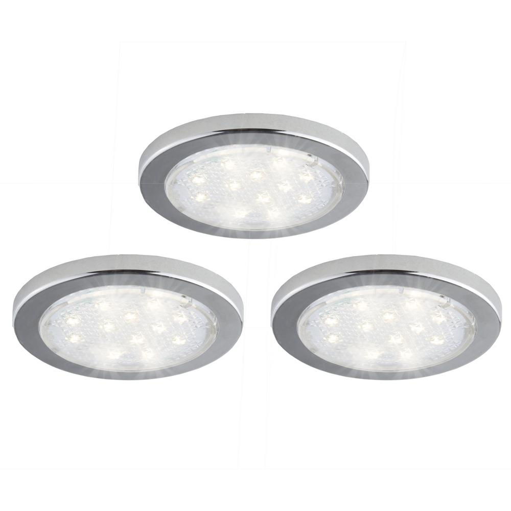 Led White Puck Light With Remote 2 Pack Brrc134: BAZZ INC Products