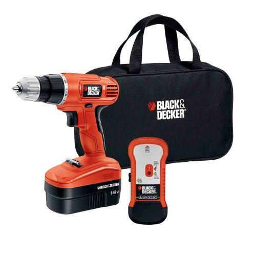 BLACK+DECKER GCO18SFB 18-Volt Cordless Drill & Stud Sensor Kit