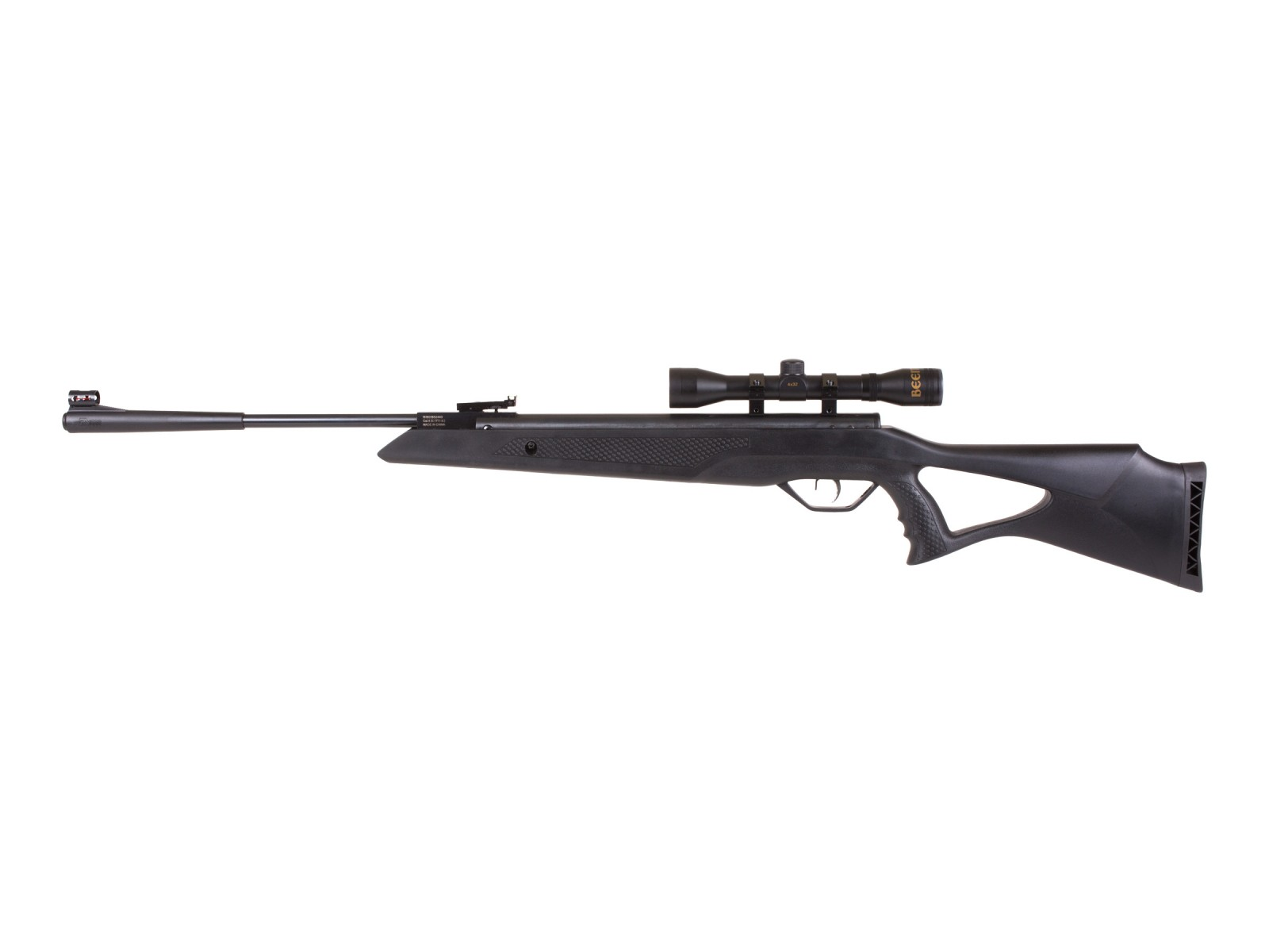 "Beeman ""Longhorn"" Air Rifle Combo w/Black Synthetic stock w/pistol grip"