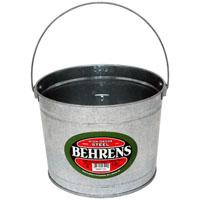 Behrens B35 Paint Pail, 5 qt, 7-3/4 in Dia x 8-1/4 in H, Steel, Galvanized