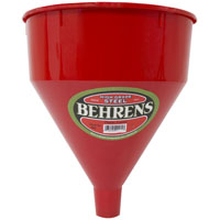 FUNNEL PLASTIC RED 6QT