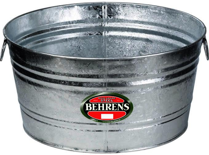 16.75-Gallon Round Hot Dipped Steel Tub