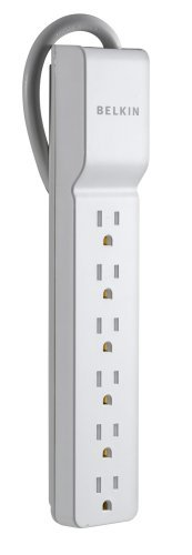 BELKIN BE106000-2.5 6-OUTLET HOME/OFFICE SURGE PROTECTOR (2.5FT CORD)