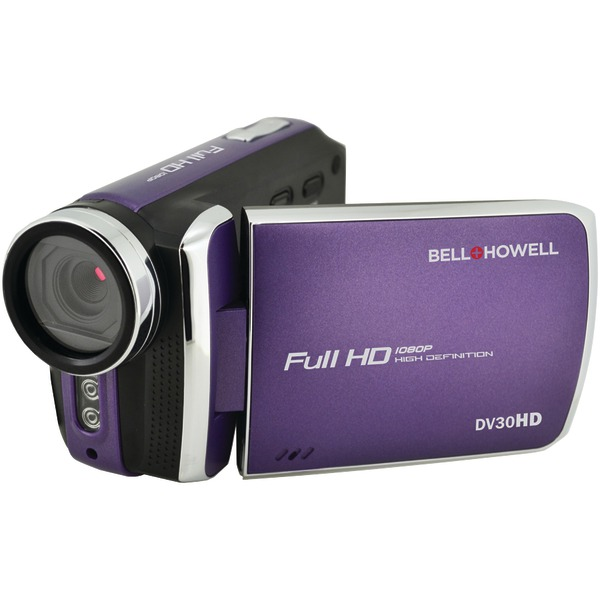 Bell+Howell DV30HD-P 20.0-Megapixel 1080p DV30HD Fun Flix Slim Camcorder (Purple)