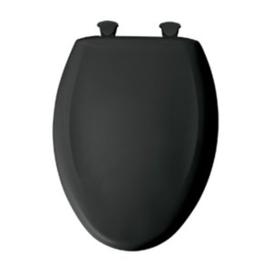 Elongated Bowl Closed Front Plastic SLOW Closed Closet SEAT Black