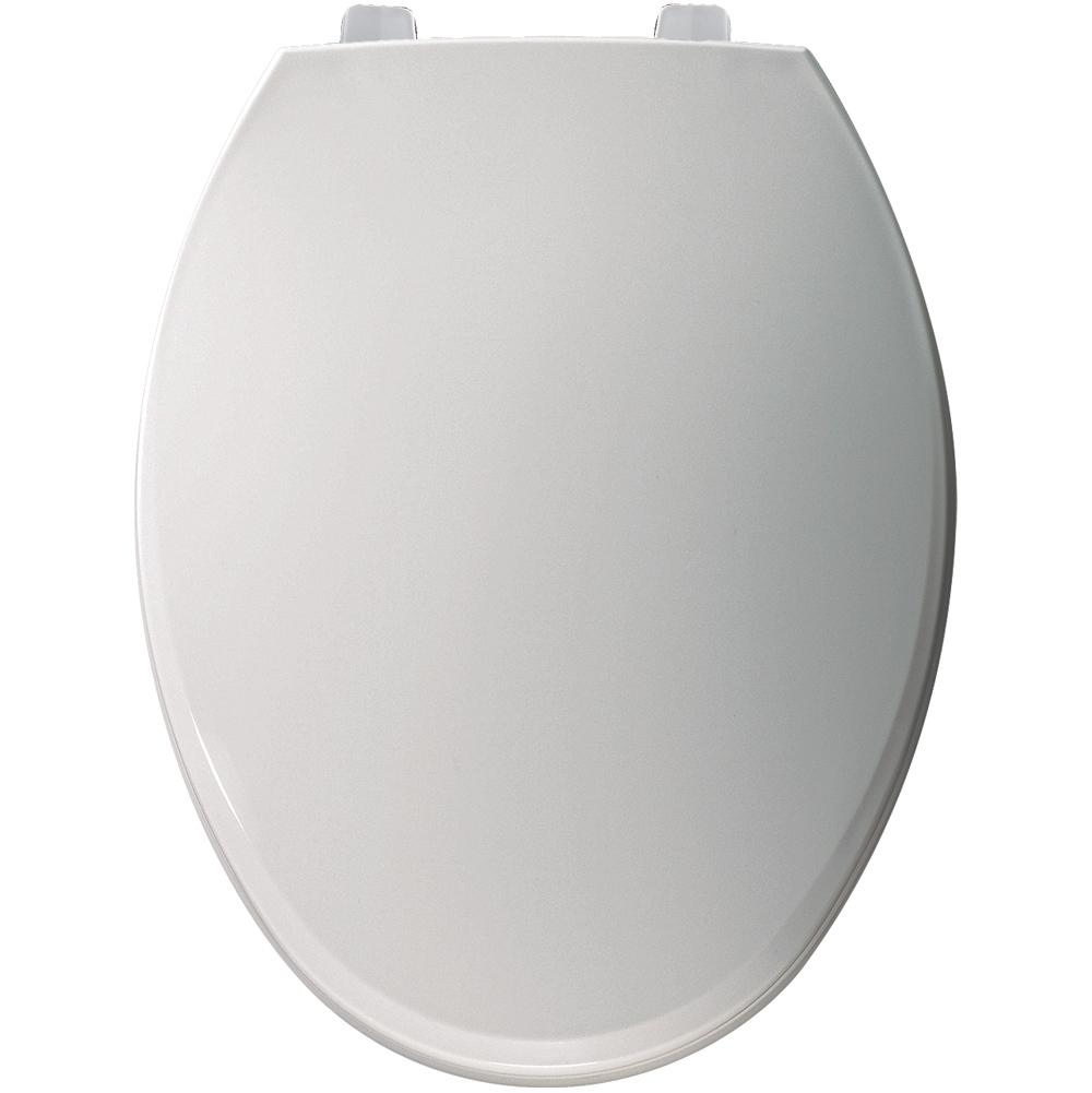 Elongated Bowl Closed Front Plastic Closet SEAT White