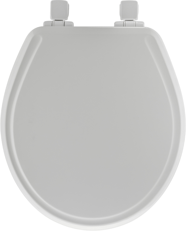 Mayfair Round Molded Wood Toilet Seat, White