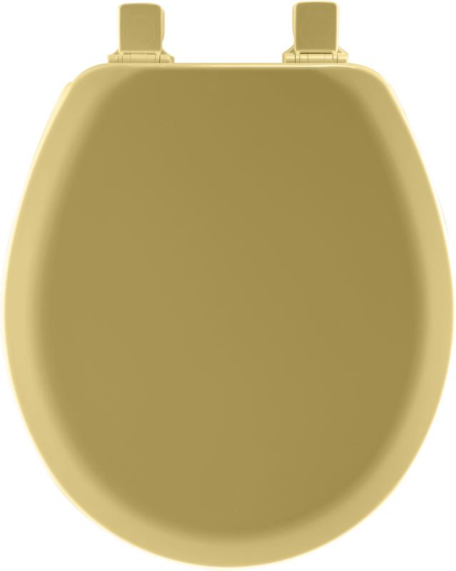 41EC 031 GOLD RND TOILET SEAT