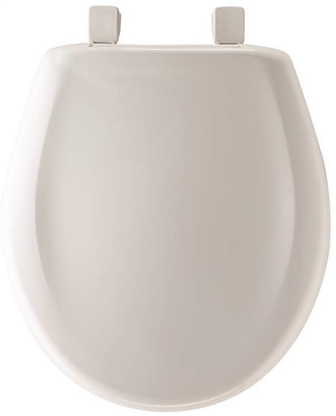 Toilet Seat Round Plastic White