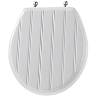 Mayfair 29CP Exclusive Cottage Classic Toilet Seat, For Use With Round Bowls, 14-3/4 in W, White