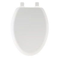 Mayfair 146EC-000 Toilet Seat, For Use With Elongated Bowls, 18-1/2 in L, Molded Wood, White