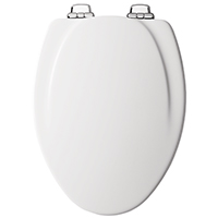 Mayfair 130CHSL Toilet Seat, For Use With Elongated Bowls, Molded Wood, White