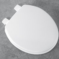 Bemis 5000 Toilet Seat, For Use With European Size Bowls, Molded Wood, White