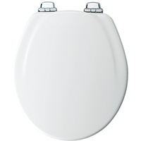 Mayfair 30CHSL Toilet Seat, For Use With Round Bowls, 15.13 in W x 2.59 in H x 19.4 in L, White