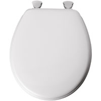 Bemis 44EC-000 Toilet Seat, For Use With Round or Elongated Bowls, Molded Wood, White