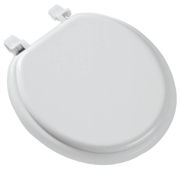 Bemis 66TT-000 Promotional Toilet Seat, For Use With Round Bowls, Molded Wood, White