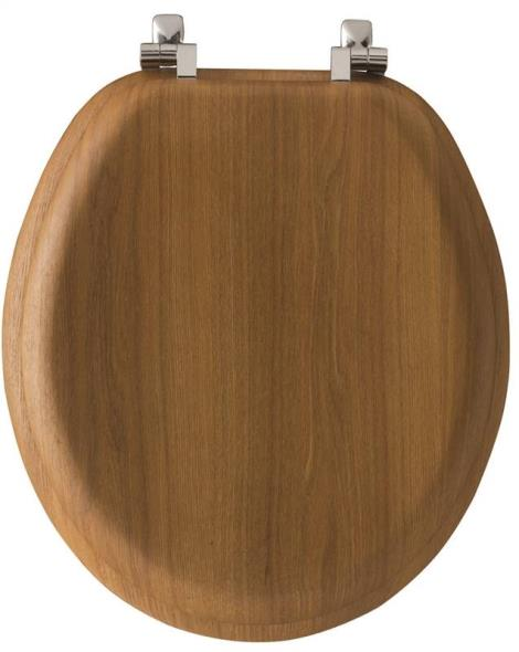 Toilet Seat Elongated Natural Oak