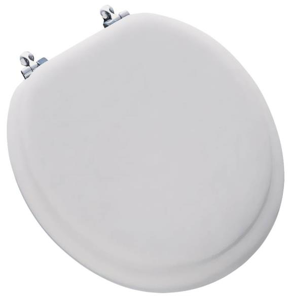 Mayfair 13CP-000 Premium Soft Deluxe Toilet Seat, For Use With Round Bowls, 14-1/2 in W