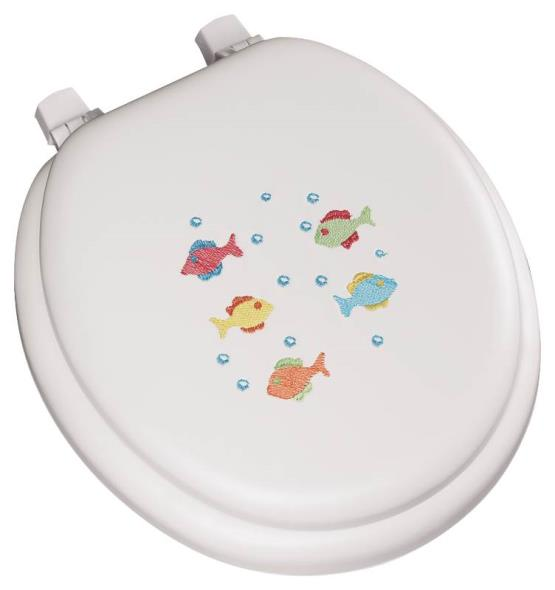 Toilet Seat Round Soft Fish