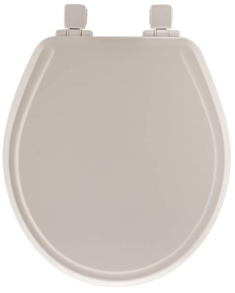 Bemis 48E2-000 Toilet Seat, For Use With Round or Elongated Bowls, Molded Wood, White