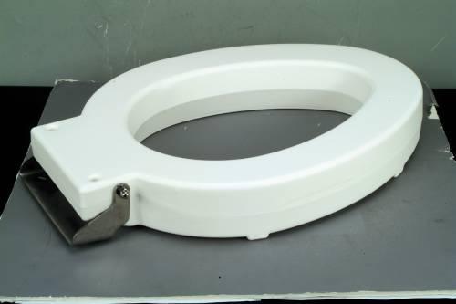 Bemis Institutional 4 In. Lift Round Toilet Seat, White