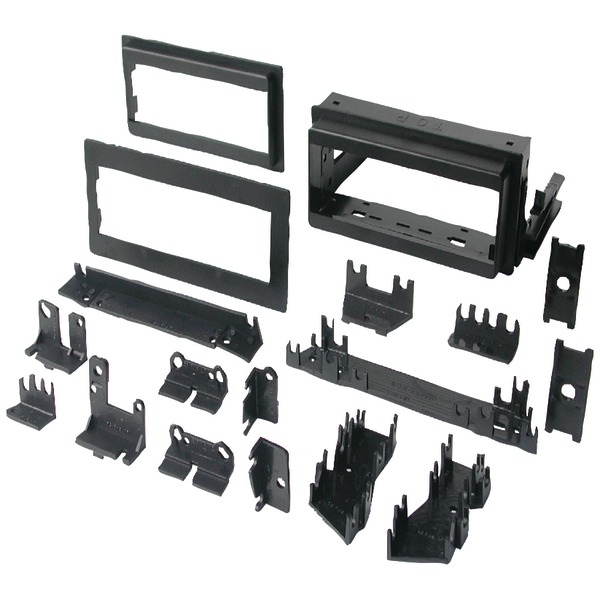 """Best Kits and Harnesses BKGM4 In-Dash Installation Kit (GM Universal 1982-2004 with Factory Brackets & Flat, .5"""" & 1"""" Trim"""