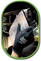 Best+ Large Zorb-IT+ Blacklite Flat Dipped Sponge Nitrile Gloves With Nylon Liner