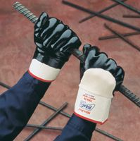 Best+ Nitri-Pro+ NBR Palm Coated Glove With Smooth Finish And Safety Cuff Size Large
