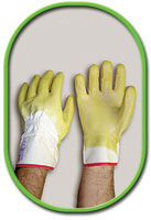 Best+ Large Nitty Gritty+ Glove Palm Coated With Natural Rubber Wrinkle Finish And Safety Cuff