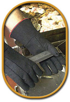 "Best+ Size 9 Black 14"" Char-Guard+ Non-Woven Lined Heat Resistant Glove With Gauntlet Cuff"