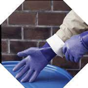 "Best+ Size 9 Blue NSK-24+ 14"" Cotton Interlock Lined Supported Nitrile Gloves Rough Finish And Gauntlet Cuff"