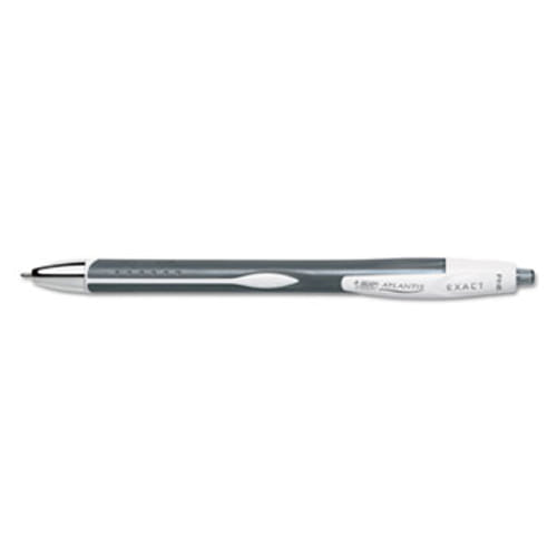 Atlantis Exact Retractable Ballpoint Pen, Black Ink, .7mm, Fine, Dozen