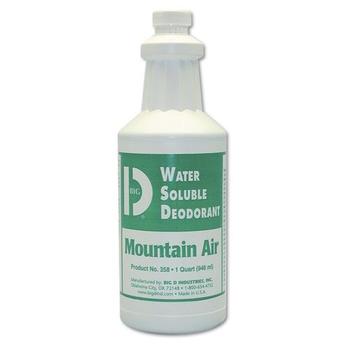 Big D Water Soluble Deodorant - Qt, Mountain Air, 12/cs, Mountain Air,