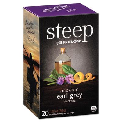 steep Tea, Earl Grey, 1.28 oz Tea Bag, 20/Box