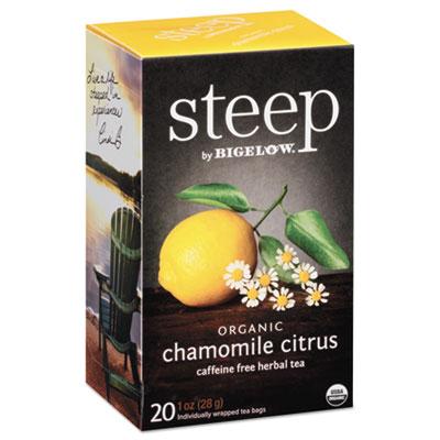 steep Tea, Chamomile Citrus Herbal, 1 oz Tea Bag, 20/Box