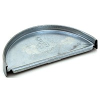 Billy Penn 2616 Half Round Gutter End Cap, 5 in L, For Use With 5 in Half Round System