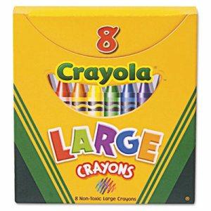 Large Crayons, Tuck Box, 8 Colors/Box