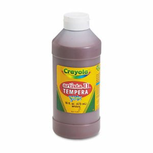 Artista II Washable Tempera Paint, Brown, 16 oz