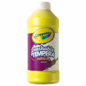 Artista II Washable Tempera Paint, Yellow, 16 oz